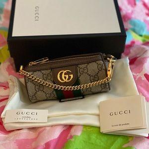 Gucci Ophidia GG Supreme Chain Micro Bag NWT
